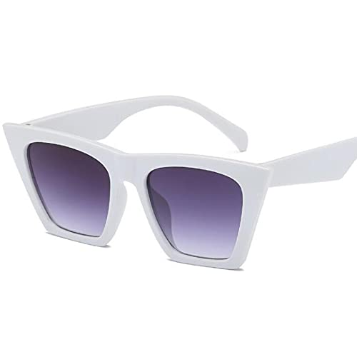 Gafas De Sol De Ojo De Gato Retro Sexis A La Moda para Mujer, Gafas De Sol De Diseñador De Marca Vintage, Gafas De Sol para Mujer, Uv400, Blanco