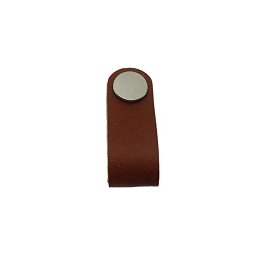 Coner Ladekast Lederen handgreep Koffer Handgreep Minimalistische kledingkast Handgreep, A3 6.8X3X2CM
