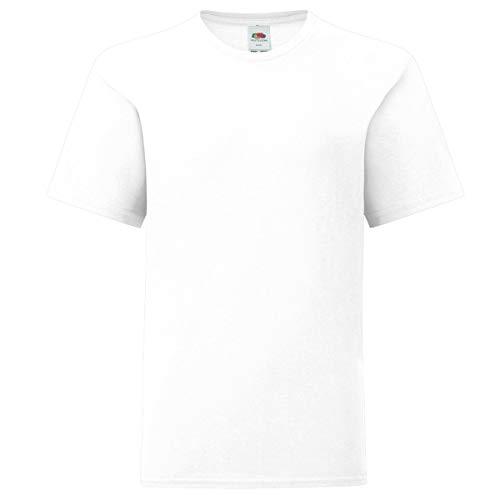 Fruit of the Loom Kids Iconic T-Shirt Größe 104-164, Farbe:weiß, Größe:152