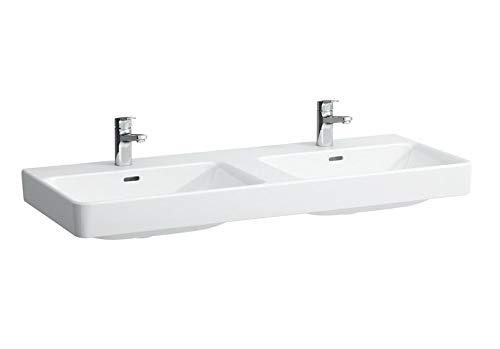 Laufen Doppel-Waschtisch PRO S unterbaufähig ohne Hahnloch 1300x460 LCC weiß, 8149684001091