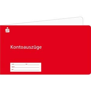 Litfax Kontoauzugshefter Sparkassen (rot) VE=100 Stück