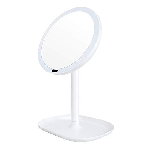 Espejo para maquillarse Detección del cuerpo humano Resplandor Espejo Mesa de luz LED de maquillaje iluminado Espejo de baño recargable 1x / 5x / 7x Ampliación del sensor infrarrojo Escritorio Espejo