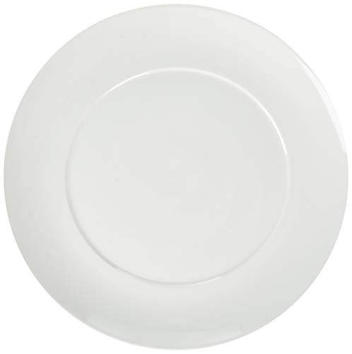 C&L Elegant Durable Porcelain 4-Piece Dinner Plate Set, 10.5-inch, White