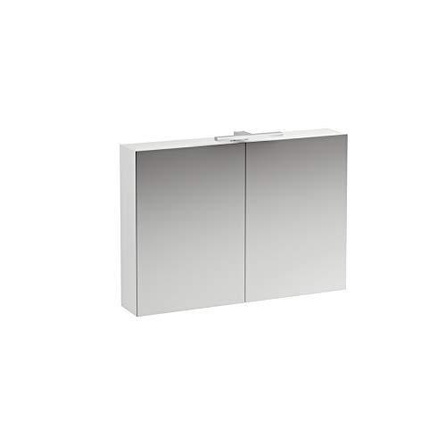 Laufen Base Spiegelschrank 1000 mm, 2 Türen, LED- Licht Element, Farbe: Ulme hell