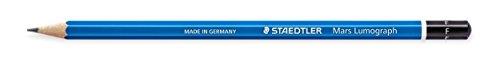STAEDTLER Bleistift Mars Lumograph F blau besonders bruchfest