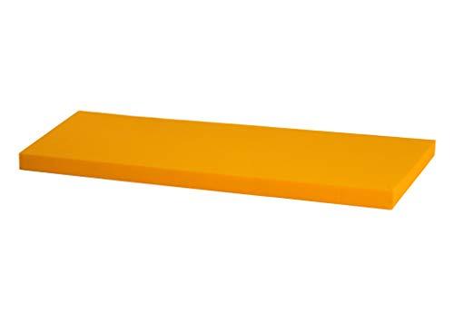 IKEA Kallax Regal Sitzauflage 111 x 39 x 4 cm Sitzpolster Sitzbank-Auflage Sitzkissen/Auflage für Sideboard als Sitzbank/unempfindlicher Bezug/Farbe GELB