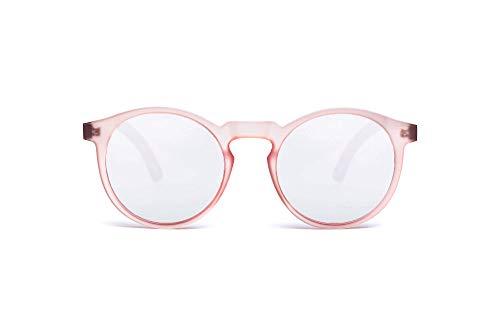 TAKE A SHOT – Gafas de sol, patilla de madera de nogal, montura de plástico, 100% de protección UV, lentes antirreflejos traseros, MOLLY