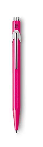 Caran d'Ache Druckkugelschreiber 849 POPLINE FLUO, purpurrot, Swiss made, fluoreszierendes pink, 849.590