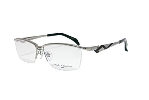 Masaki Matsusima マサキマツシマ MF1228-2-58 ライトグレー/ブラック 眼鏡 メガネ フレーム メンズ ハーフリム ナイロール