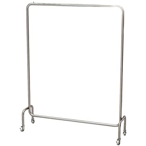 Heavy-Duty Clothes Rail, Hanging Luggage Display Rack, Steel Clothes Rail, Modern Minimalist Wheeled Clothes Rack, Heavy-Duty Storage Rack/Silver / 120×40×160cm