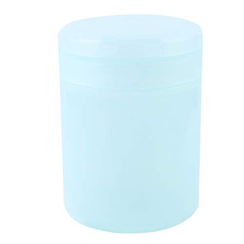 HEALLILY Coton Tige Titulaire Cure-Dent Boîte de Rangement en Plastique Coton Tampon Récipient en Plastique Apothicaire Pots pour Boules Maquillage Éponges