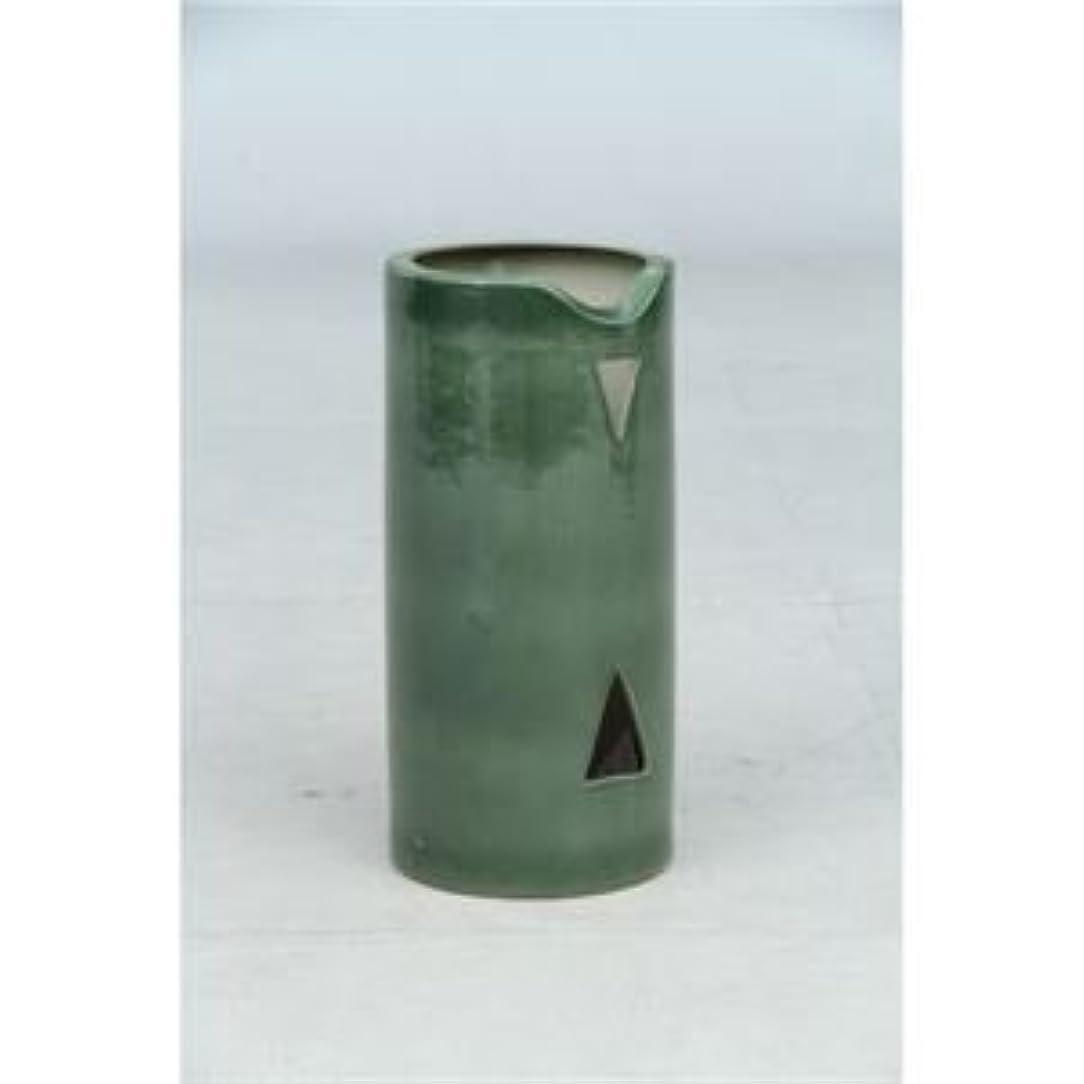 苦味組立うなる陶器製信楽風傘立て 丸型 スリムタイプ NT-03 ds-981514