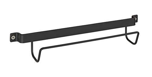 WENKO Leiter-Halter, moderne Wand-Halterung für Haushalts-Leitern, passend zu den Design-Klapptrittleitern von WENKO, hochwertiges Metall in schwarz, 33.5 x 6.5 x 7 cm
