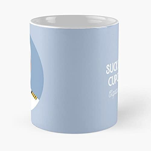 Captain Lee Quotes - Taza de cerámica de mármol, color blanco