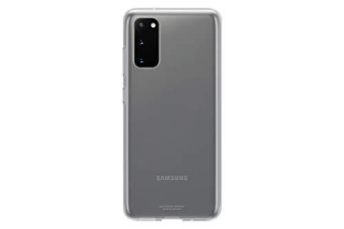 Samsung Clear Cover Smartphone Cover EF-QG980 für Galaxy S20 | S20 5G Handy-Hülle, extra-dünn und griffig, Schutz Case, durchsichtig, transparent