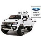 Babycar 550B, Coche eléctrico Jeep SUV Ford Ranger Full Optional, con Mando a Distancia, 12 V, Blanco