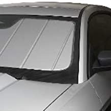 Covercraft UVS100 Custom Sunscreen: 2013-17 CHEVROLETTRAVERSE & Fits GMC Acadia (W/Lane Departure Mirror Option) (Silver) (UV11319SV)