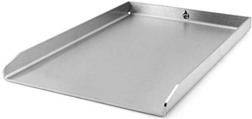 Grillrost.com Das Original Grillplatte/Plancha | Edelstahl | Massiv 45 x 30cm - Passend für Napoleon LE3 LEX485 LEX605 LEX730