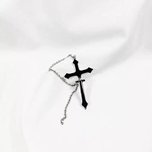 CXWK 1 Uds Pendientes de Gota Cruzados para Mujer Moda Vintage Cadena Larga Pendientes de Gota con Cremallera Cruzada para Hombres Mujeres Fiesta Punk joyería Regalo