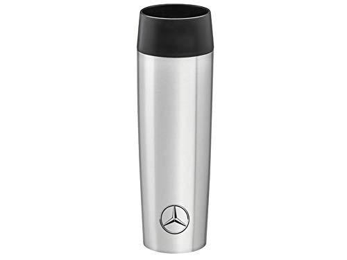 Mercedes-Benz Isolierbecher, 0,36 l, silberfarben/schwarz, Edelstahl/Kunststoff, emsa, Verschiedene Größen, (0,5 l)