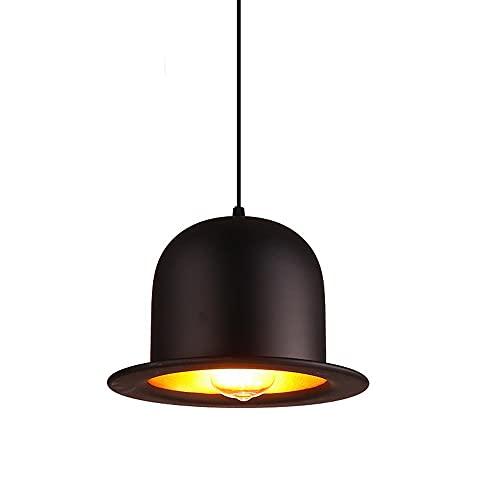 LIUDADA Lámpara colgante vintage de hierro con casquillo E27, para bar, comedor, cafetería, pasillo, 26 × 17 cm