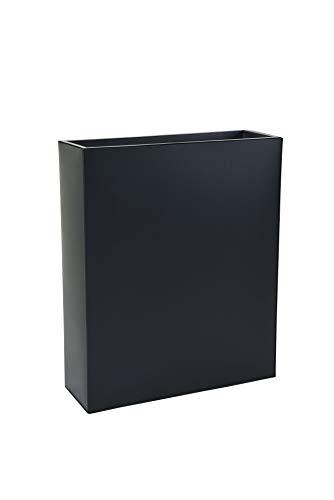 VIVANNO Pflanzkübel Raumteiler Sichtschutz Premium Stahlblech Schwarz ELEMENTO 90x75x25 cm