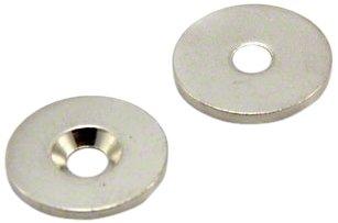first4magnets MS202CSK -50 20 Durchmesser x 2 mm dick mit 4 mm (Packung mit 50) Scheibe mit Senkkopf Stahl (Stahlscheibe nicht Magnetscheibe)