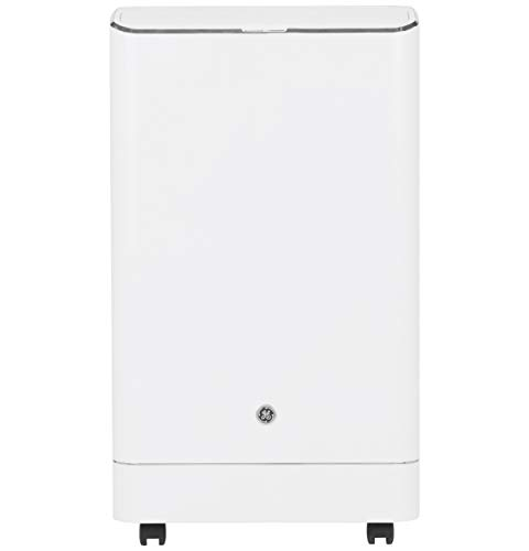 GE 3-in-1 Smart Portable Auto Evaporation Technology: air Conditioner, Fan, dehumidifier. Cools Medium Rooms up to 550 Sq. Ft (9,700 SACC), White