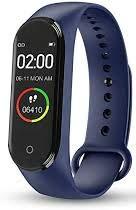 SAMART Bracelet MB-M4, Reloj de pusera con función de monitorizar la Actividad Cardiaca del Cuerpo. (Azul)