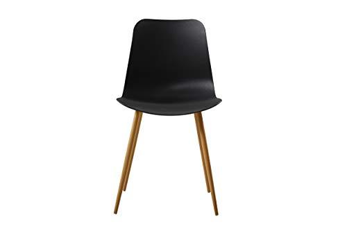 Homemania Stoel Polaris, voor kantoor, woonkamer, eetkamer, keuken, slaapkamer, Letto Tavolo, 2 stuks 45 x 80 x 47 cm zwart.