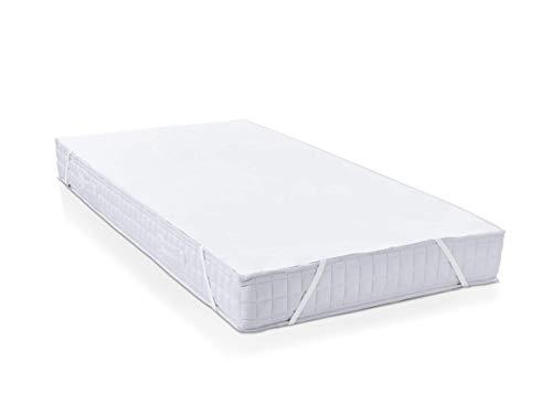 Hometex Premium Textiles Matratzenschoner Matratzenauflage wasserdicht | Matratzenbezug ÖKO-TEX 100 geprüft | Atmungsaktiv, Anti-Allergisch, gegen Milben | 2er Set 90x200 cm