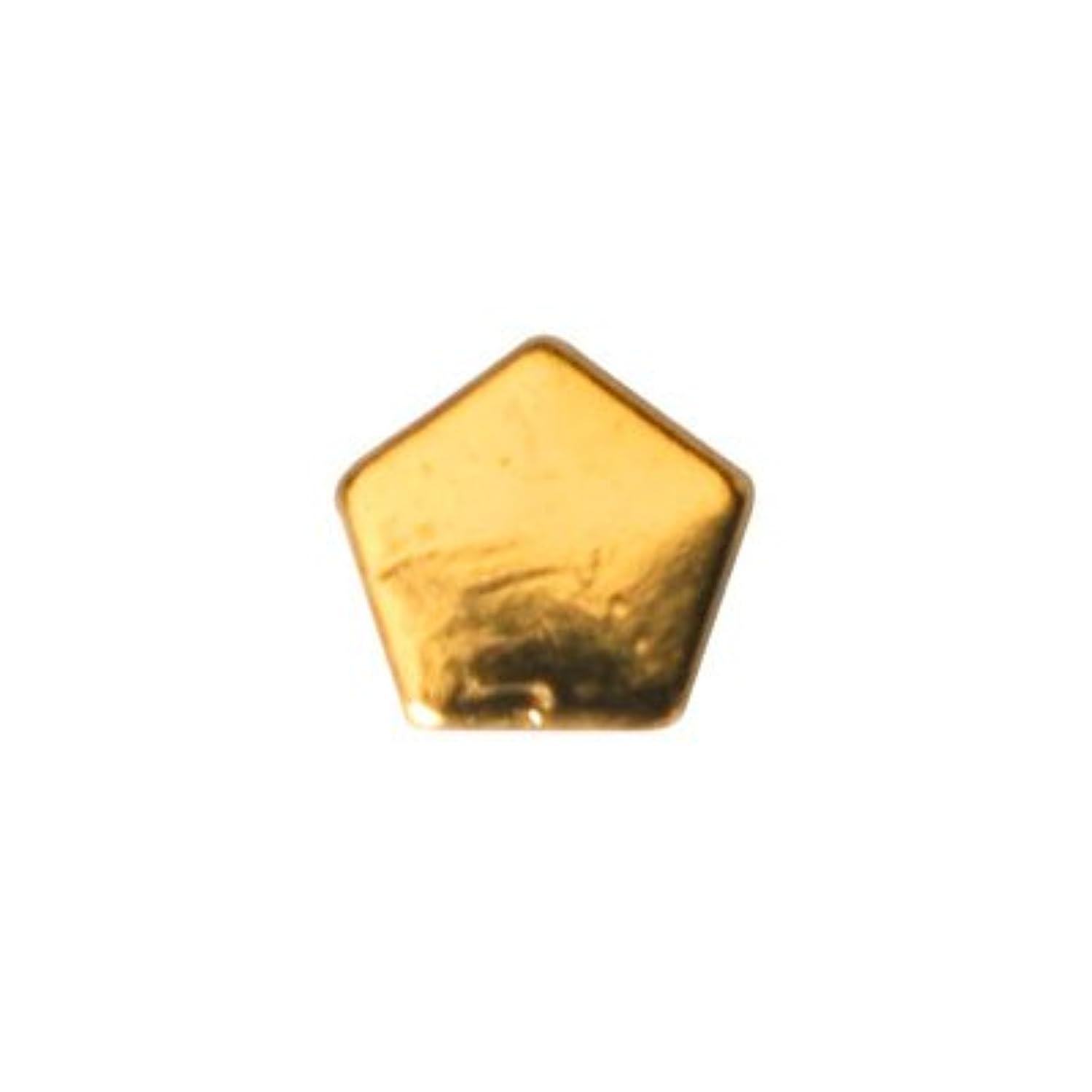 追い越す傷つきやすい前置詞ピアドラ スタッズ ペンタゴン 3mm 50P ゴールド