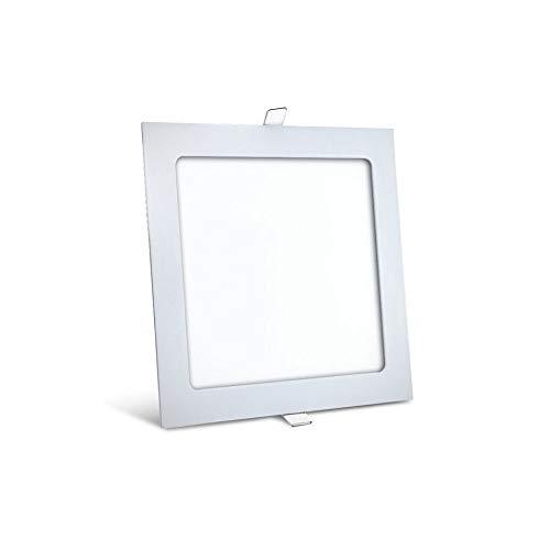 15 Watt LED Panel Ultra Slim Einbauleuchte Quadrat Eckig 19,5 x 19,5 cm Kaltweiß