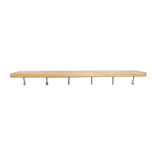 JCNFA Planken Wandmontage Haak Partitie Eiken Hele Board Wandplank Ophangbeker, Keuken, Woonkamer, Board 2.2cm Dikke