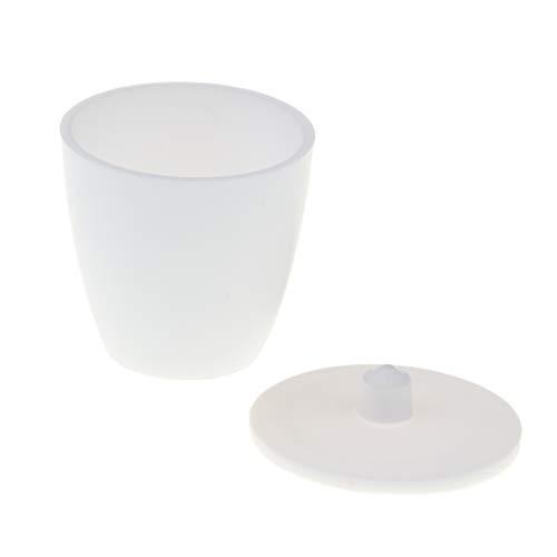 Homyl Weiß Tiegel Schmelztiegel Labor Werkzeug mit Deckel - 30 ml Kapazität