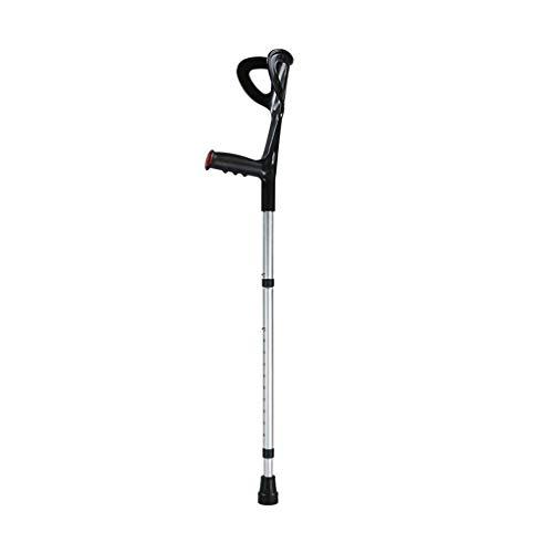 LZGZ Muletas muletas ortopedicas Adulto Muletilla bastón Extensible de Aluminio Coderas Antideslizante Resistente al Desgaste