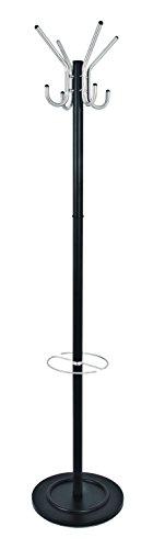 HAKU Möbel 88599 kapstok, stalen buis, zwart-aluminium, 66x51x182 cm