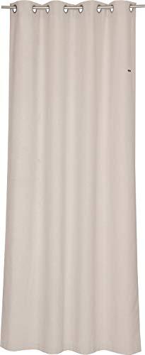 ESPRIT Ösen Vorhang Natur Blickdicht • Gardinen Vorhang 2er Set • Ösenschal 140 x 250 cm Harp • 100% Polyester