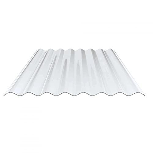Lichtplatte   Wellplatte   Lichtwellplatte   Profil 130/30   Material PVC   Breite 1000 mm   Länge 2,00 m   Stärke 1,4 mm   Farbe Klarbläulich