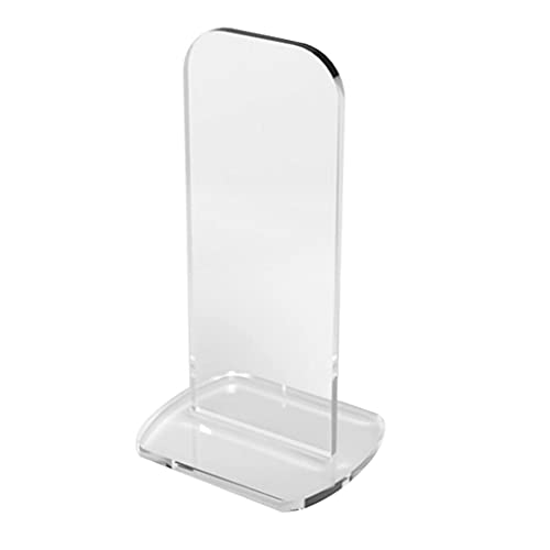 YIJU Acrylic Boxing Glove Display Stand Vertical Erected Sturdy Beautiful Display Desk or Counter Top Glove Display Rack Case Signed Autographed Shelf - Clear