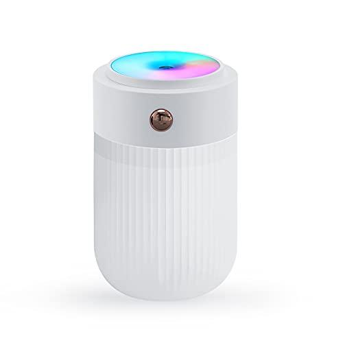 Calager Umidificatore Ambiente casa, 30dB Super Silenzioso diffusore, umidificatore Bambini con Luce LED 7...