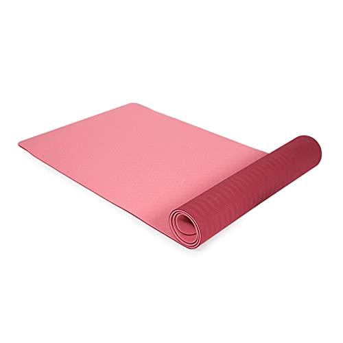 N\C La Esterilla de Yoga TPE de Alta Densidad de 6 mm es Adecuada para estiramientos, Entrenamiento de Fuerza, Yoga y Entrenamiento de rehabilitación en el Gimnasio o en casa.Viene con Bolsa de Yoga