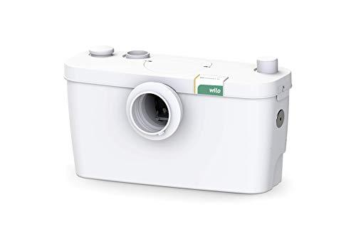 Wilo-HiSewlift 3-15, kompakte Abwasser-Hebeanlage mit Schneidwerk für fäkalienhaltiges Abwasser zur Entwässerung einer Toilette, 1 Anschluss, 5200l/h, 0, 8 bar, 400W