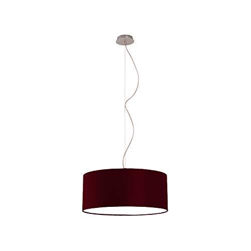 Lampadario a Sospensione in tessuto Moderno Roary Made in Italy paralume ideale per soggiorno e tutte le stanze della tua casa avanguardista diametro 50 di colore Bordeaux - Olux Illuminazione