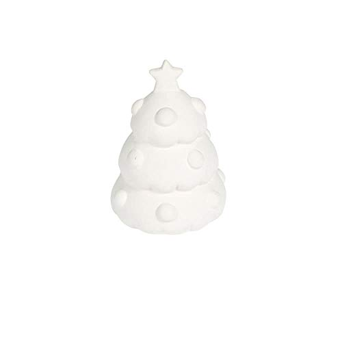 DIY 3D Ceramic Mini Christmas Tree to paint-12 pack-Crafts for Kids