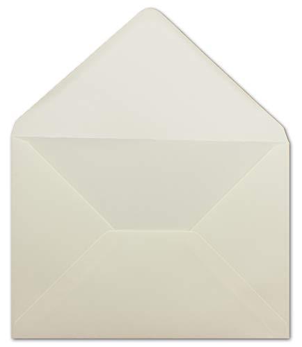 50 DIN C5 Briefumschläge Creme - 16,2 x 22,9 cm - 100 g/m² - Spitze Klappe mit Nassklebung Post-Umschläge ohne Fenster von Ihrem Glüxx-Agent