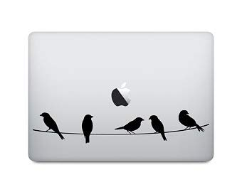 Aufkleber fur MacBook Motiv Vogel auf einem Draht Natur Laptop Aufkleber