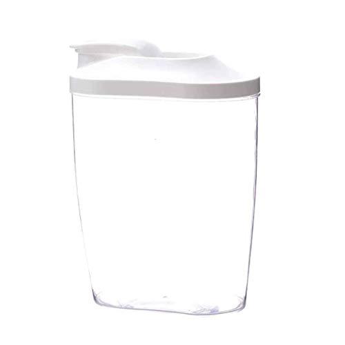 FASEY 2pcs Cucina Cereali Dispenser Riso Contenitore di immagazzinaggio Scatola sigillata a Prova di umidità Bagagli Cancella Taniche di plastica (Color : 2pcs, Size : L)