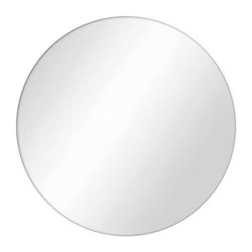 PHOTOLINI Spiegel Rund ohne Rahmen 70 cm | Deko-Wandspiegel | Runder Spiegel | Rundspiegel