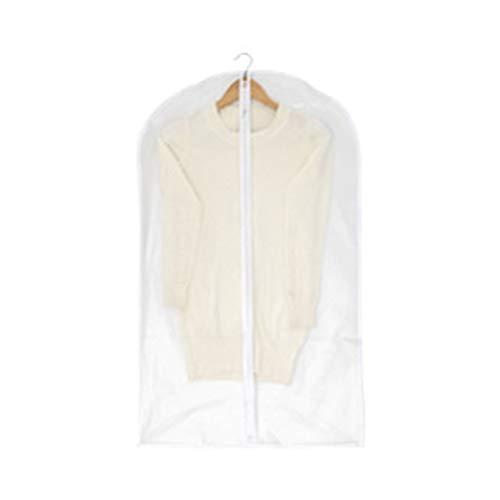 Garment Covers, Suit Bag Moth Proof Coat Bag PEVA doorschijnend jurk Cover hoes van Bag for Suit Dress en Coat Closet-opslag, set van 10 (Size : 60 * 100cm)